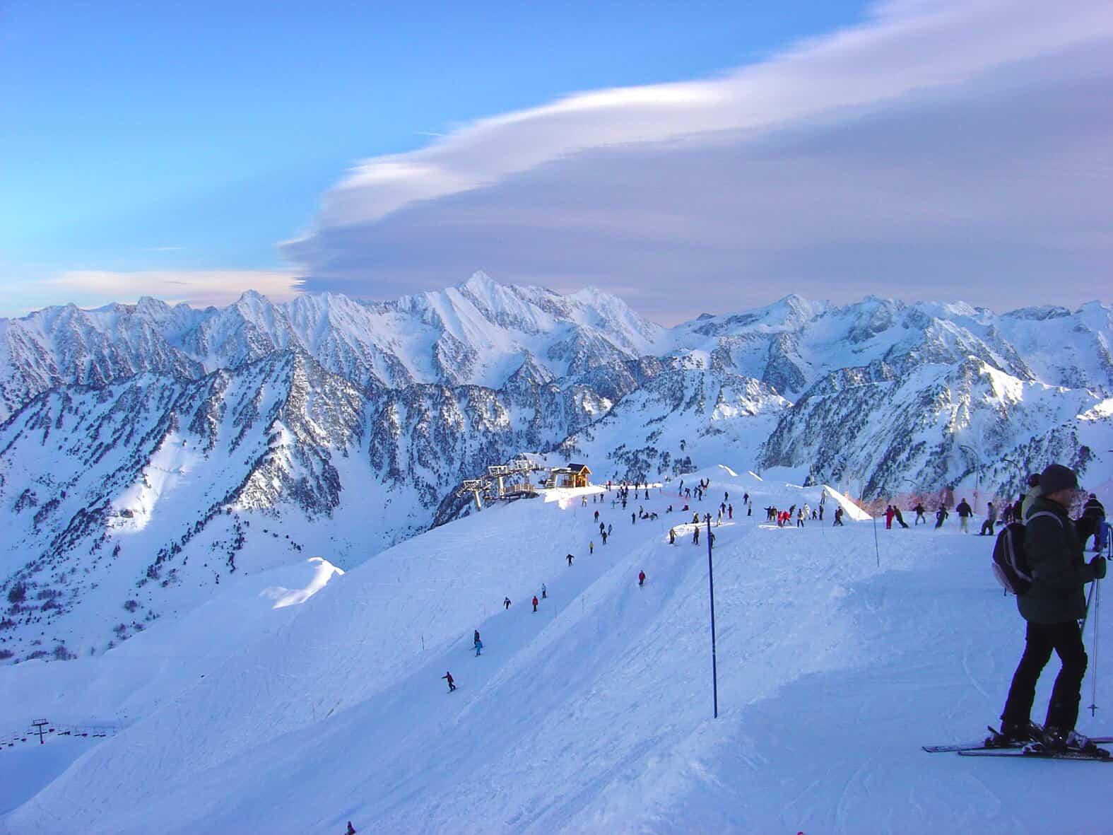 Les pistes de la station de ski de Cauterets