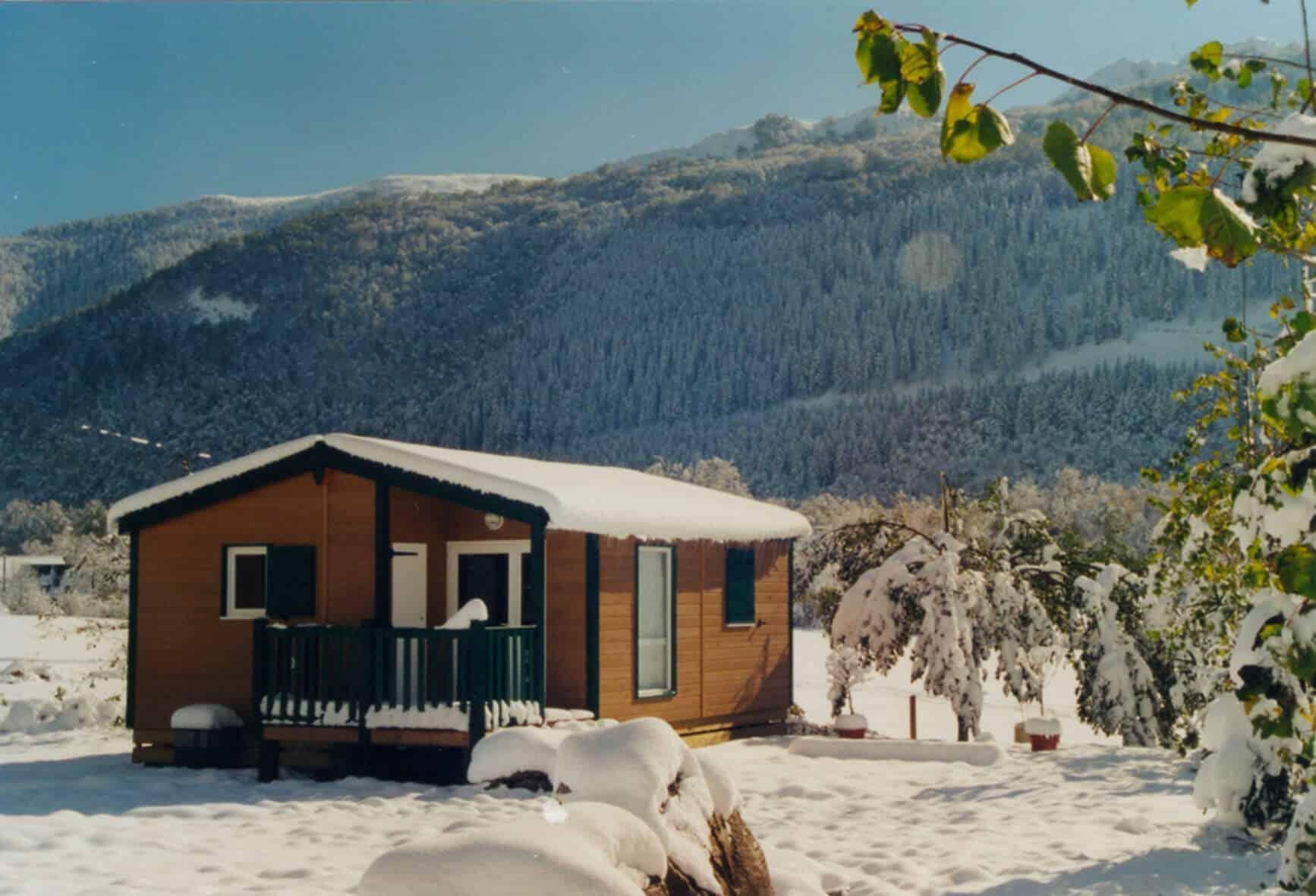 Chalets en camping dans le Val d'Azun